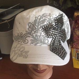 White / Gray Cross Cap